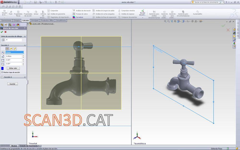 CAD old faucet