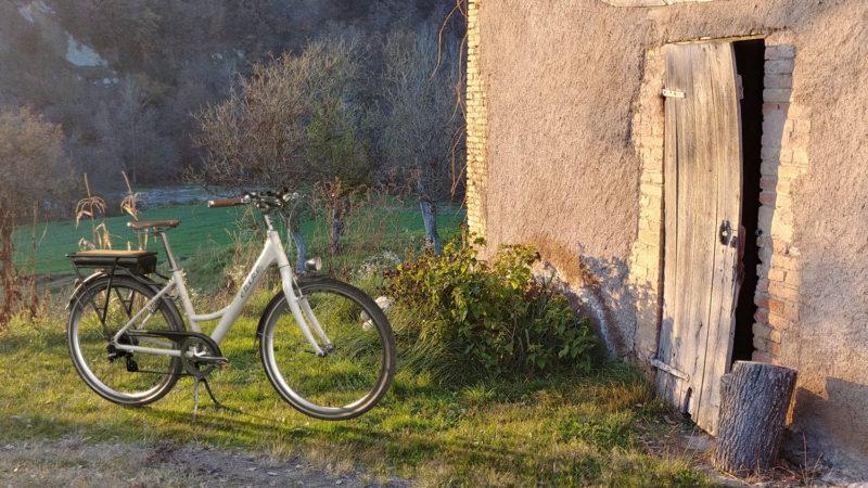 E-bike at farmland