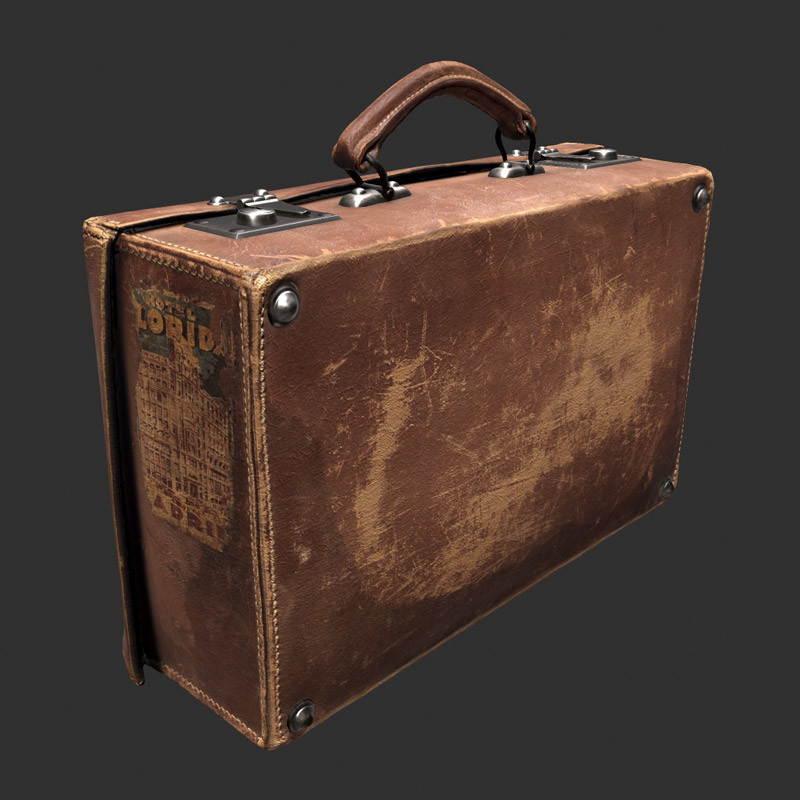 Leather-suitcase