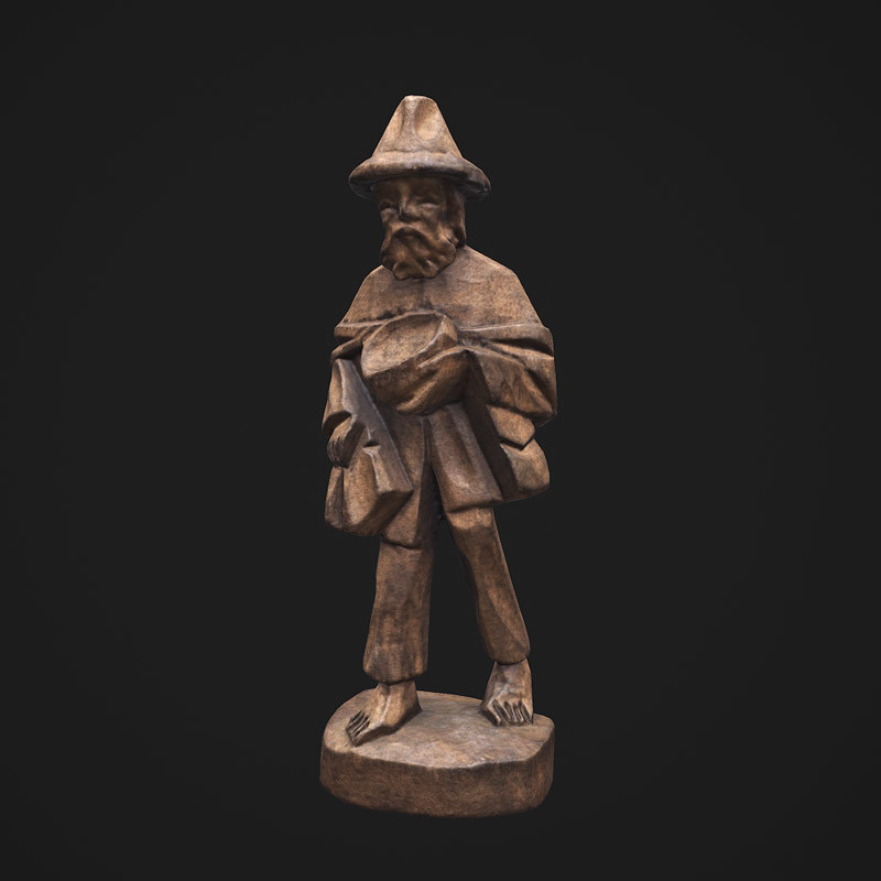 Wooden-pilgrim-figure
